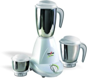 Kenstar KMT50W3S with 3 Jar 500 W Juicer Mixer Grinder White, 3 Jars