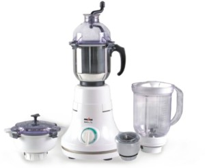 Kenstar Stallion Dx 4J MG-0411-4J with 4 Jars 600 W Juicer Mixer Grinder White, 4 Jars