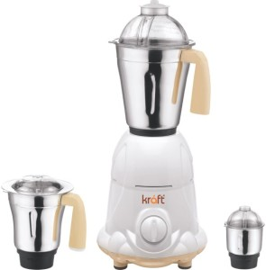 Kraft Premium 550 W Juicer Mixer Grinder White, 3 Jars