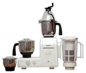 Lumix Turbo Grind 750 W Mixer Grinder White, 4 Jars
