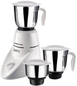 Morphy Richarads Richards Aero with 3 Jars 550 W Juicer Mixer Grinder White, 3 Jars