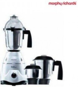 Morphy Richards Delux 750 W Mixer Grinder Silver,Black, 3 Jars