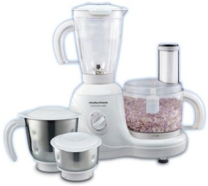 Morphy Richards Essentials 600 Food Processor 600 W Juicer Mixer Grinder White, 4 Jars