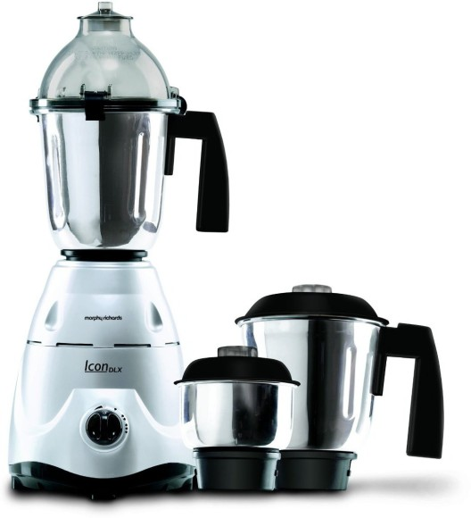 Morphy Richards 750 Watts Mixer: Morphy Richards Icon Deluxe 750 W Mixer Grinder Silver, 3 Jars