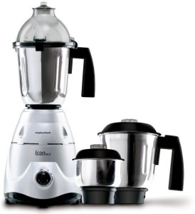Morphy Richards Icon DLX 600 W Mixer Grinder Silver, 3 Jars