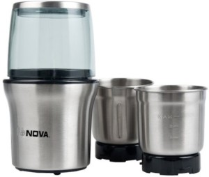 Nova Multifunctional Wet And Dry 300 W Mixer Grinder Silver, 2 Jars