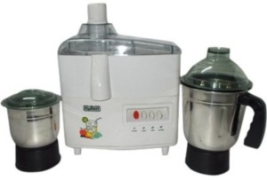Nutan Eco 450 W Juicer Mixer Grinder White, 2 Jars