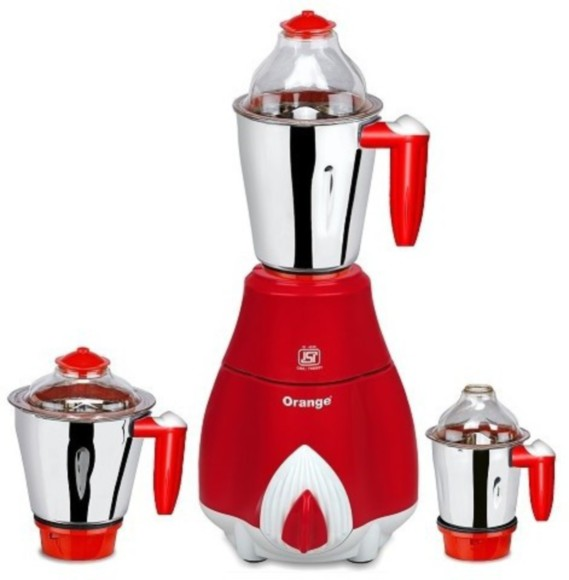 Mixer Grinder Blades : Orange enjoy w mixer grinder red jars
