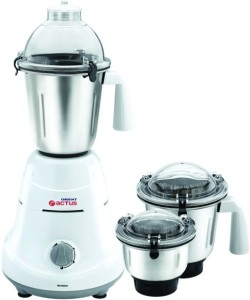 Orient Actus MG6001G 3-Jar 600 W Juicer Mixer Grinder White, 3 Jars
