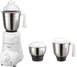 Oster MGSTSL5020-449 650 Mixer Grinder White and Black, 3 Jars