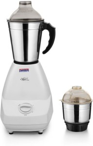 Padmini Cutee 350 W Mixer Grinder White, 2 Jars