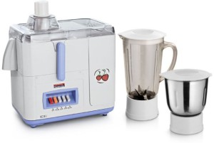Padmini Icon 450 W Juicer Mixer Grinder White, 2 Jars