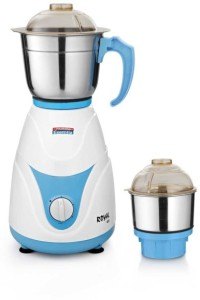 Padmini Royal 400 W Mixer Grinder White & Blue, 2 Jars
