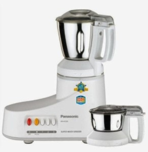 Panasonic MX-AC220H 550 W Mixer Grinder White, 2 Jars