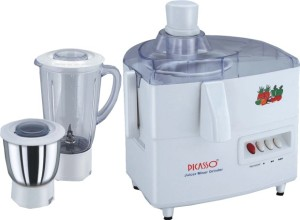 Picasso Electric 450 W Juicer Mixer Grinder White, 2 Jars