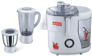 Picasso Sleek 450 W Juicer Mixer Grinder White, 2 Jars