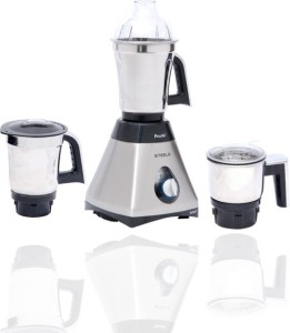 Preethi Steele Smart – MG 194 600 W Mixer Grinder Silver, 3 Jars