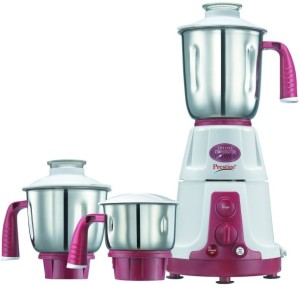 Prestige Deluxe Total VS 750 W Juicer Mixer Grinder White, 3 Jars