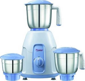 Prestige Stylo 550 Mixer Grinder White with indigo base, 3 Jars