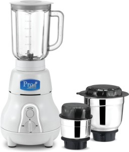 Prolife Matka MG03 850 W Mixer Grinder White, 3 Jars