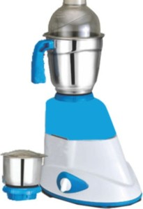 Quba Mg96 500 W Mixer Grinder White, Blue, 2 Jars