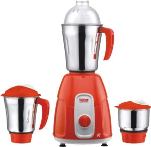 Rallison Star 550 W Mixer Grinder Red, 3 Jars
