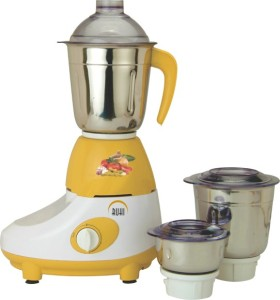 Ruhi AM 10 500 W Mixer Grinder Yellow, White, 3 Jars