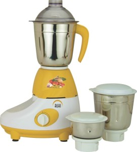 Ruhi AM 10A 500 W Mixer Grinder Yellow, White, 3 Jars