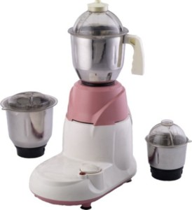 Santosh Champion 750 W Mixer Grinder Pink, 3 Jars