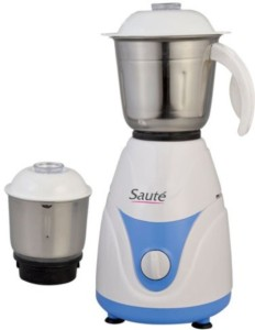 Saute MG -PLATINUM_001 450 W Mixer Grinder White And Blue, 2 Jars