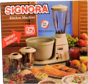 Signora Appliances Supreme SSP-4006 500 W Mixer Grinder Cream, 3 Jars