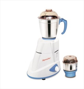 SignoraCare Eco Super 550 W Mixer Grinder White, 2 Jars