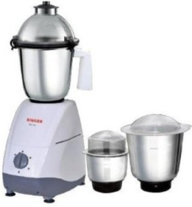 Singer MG-49 550 W Juicer Mixer Grinder White, 3 Jars