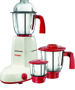 Snapple Scarlet 550 W Mixer Grinder White,Red, 3 Jars