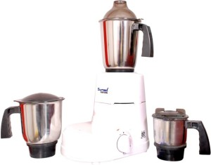 Sumeet Domestic LNX 550 550 W Juicer Mixer Grinder White, 3 Jars
