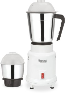 Sunny MINI 400 W Mixer Grinder White, 2 Jars