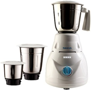 Usha MG 2853 Smash 500 W Mixer Grinder White, 3 Jars