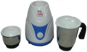 Vibro Kitchen Beauty-55 450 W Mixer Grinder White and Blue, 2 Jars
