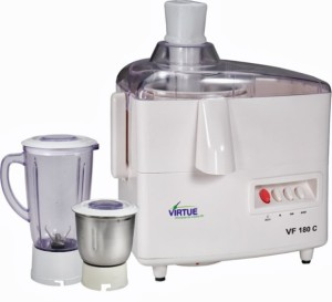 Virtue VF-180C 500 W Juicer Mixer Grinder White, 2 Jars