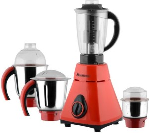 Anjalimix Amura red 750 Watts 4 Jars 750 W Mixer Grinder