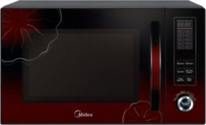 Midea AC930AHH-S00E 30 L Convection Microwave Oven Black and Floral Red
