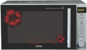 Onida MO20CJS26F 20 L Convection Microwave Oven Black & Red Floral