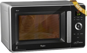 Whirlpool 29L Jet WS Crisp Steam 29 L Convection Microwave Oven Black Facia and Silver Body
